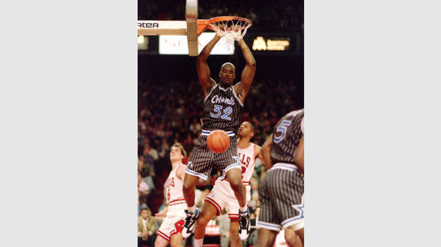 Shaquille O'Neal in the Reebok Shaq Attaq