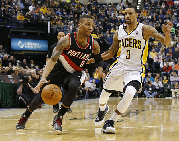 George Hill and Damian Lillard