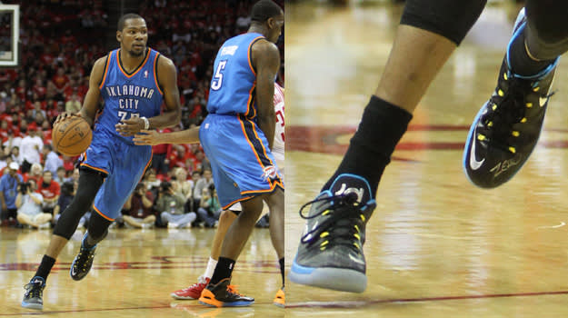 Kevin Durant in the Nike KD 5 Elite