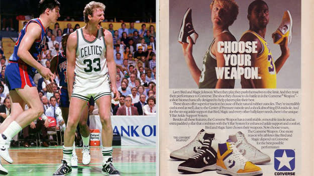 Larry Bird Boston Celtics Converse Weapon