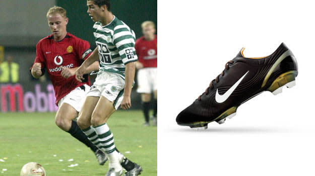 the complete soccer cleat history of cristiano ronaldo