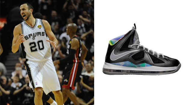 Manu Ginobili in the Nike LeBron X