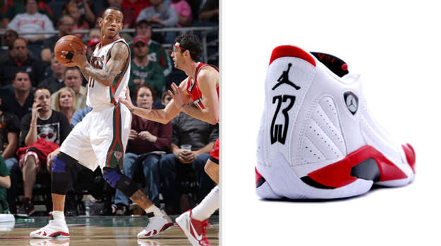 Monta Ellis Milwaukee Bucks Air Jordan XIV
