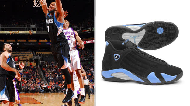 Derrick Williams Minnesota Timberwolves Air Jordan XIV