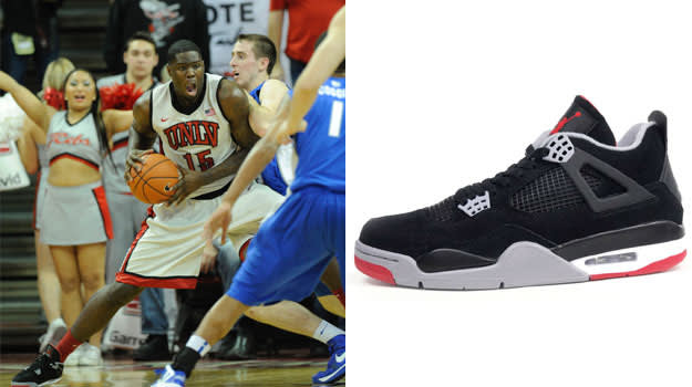 Anthony Bennett in the Air Jordan IV