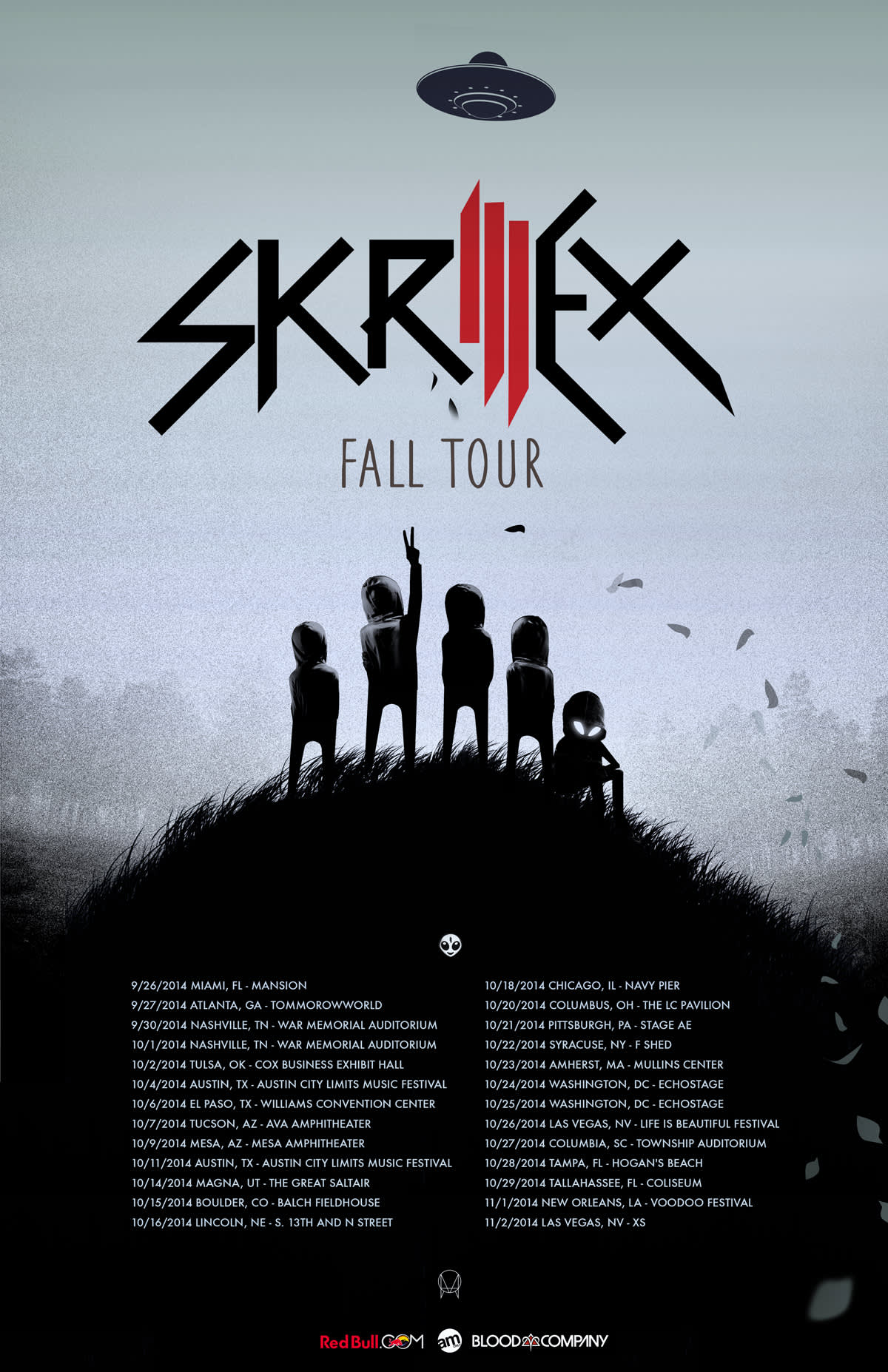 Skrillex tour dates