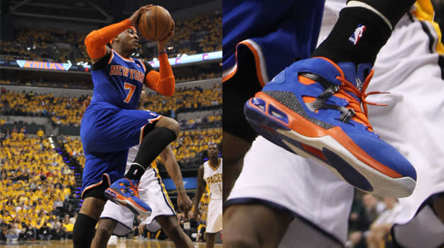 Carmelo Anthony in the Jordan Melo M9