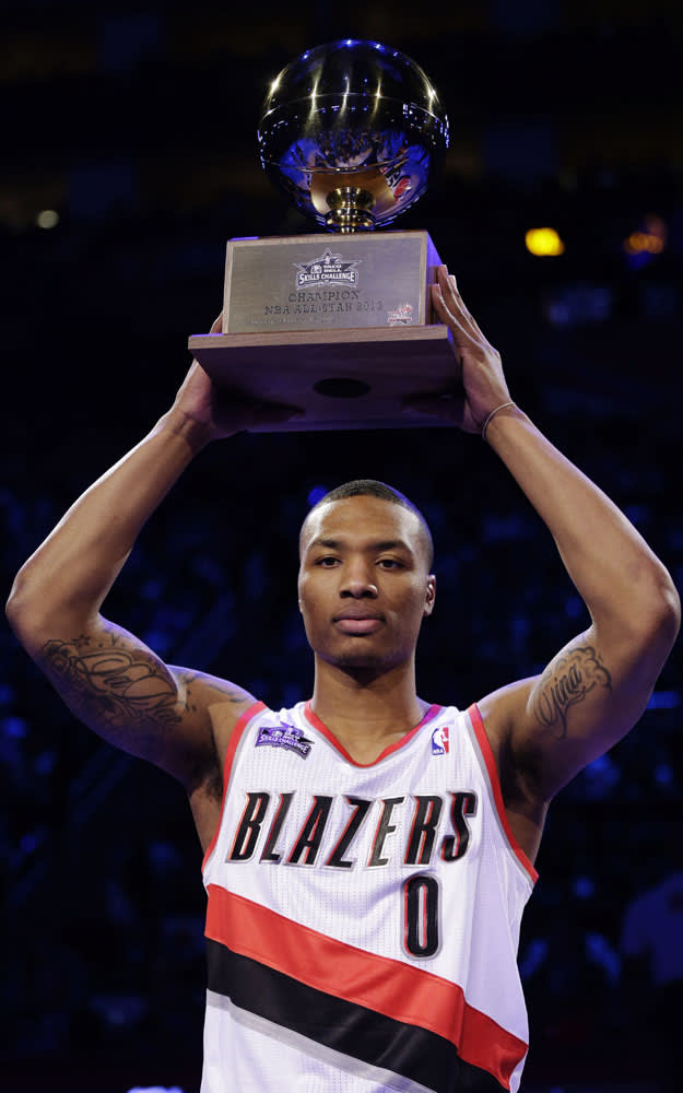 Damian Lillard rising star champion
