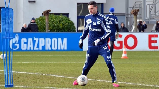Julian Draxler in training