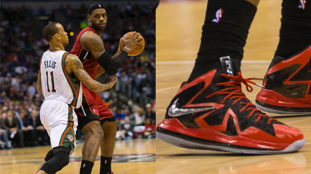 LeBron James in the Nike LeBron X Elite