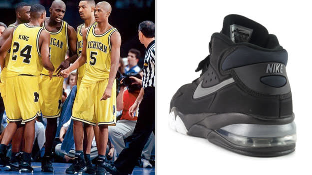 Jalen Rose Michigan Wolverines Nike Air Force Max
