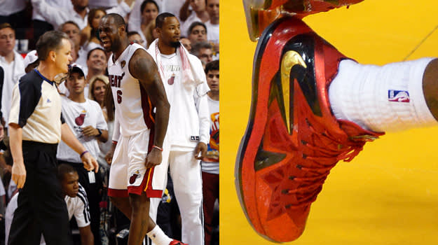 LeBron James in the Nike LeBron X PS Elite