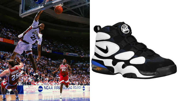 Marcus Camby in the Nike Air Max 2 Uptempo