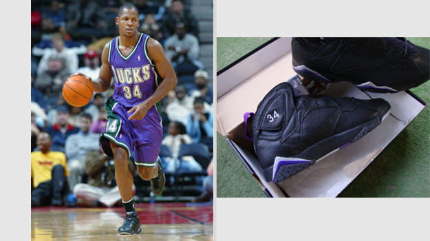 Ray Allen Milwaukee Bucks Air Jordan VII