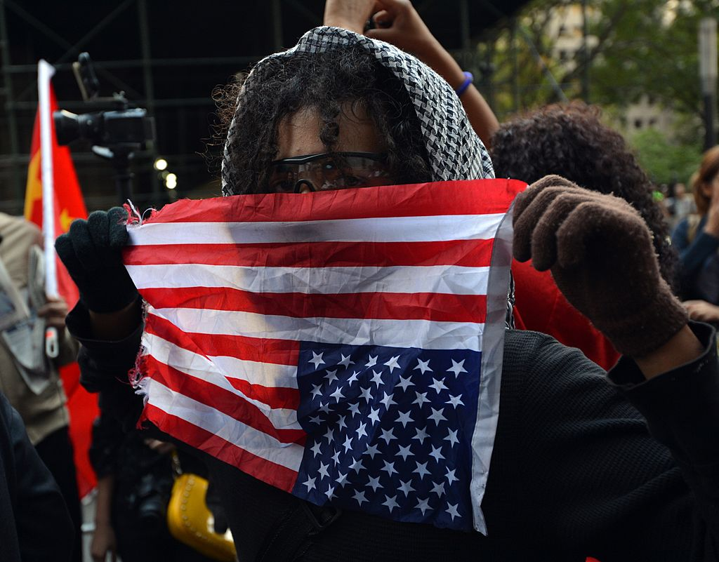 protester at occupy wall st