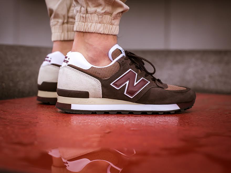 New Balance 575 Made in UK Brown/Burgundy Left