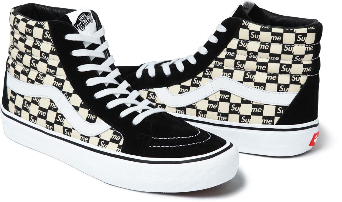 65c9e0ad09f282 Image via Supreme Supreme Vans Checkerboard Black