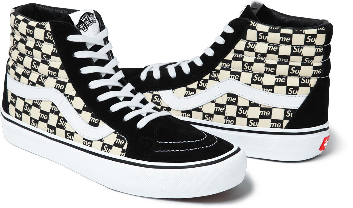 Supreme Vans Checkerboard Black