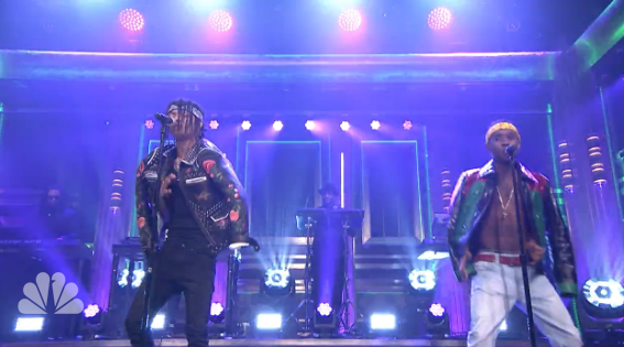 "Watch Rae Sremmurds Turnt Performance of ""Look Alive"" on Fallon news"