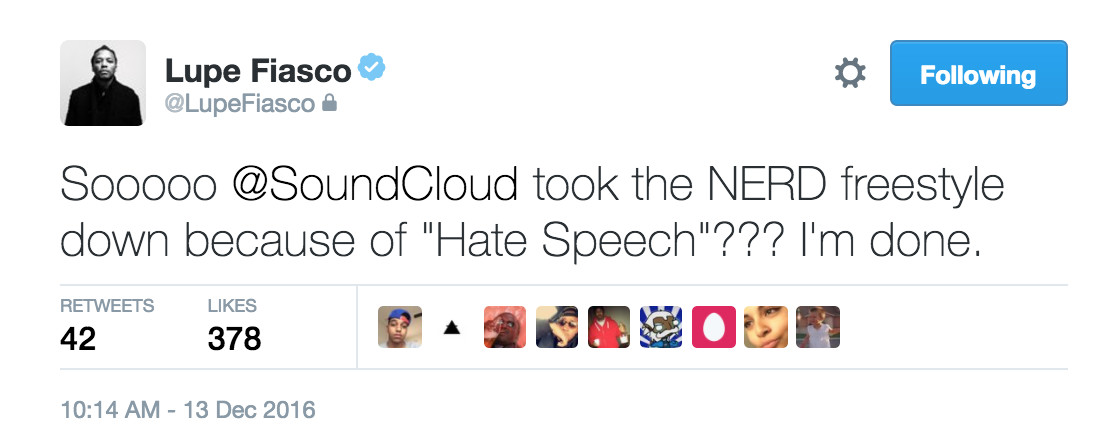 Lupe Fiasco Gets Flagged For Hate Speech on SoundCloud ...