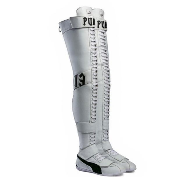 Rihanna Puma Boots White Black
