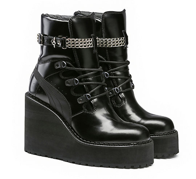 rihanna sneaker boot wedge sole collector