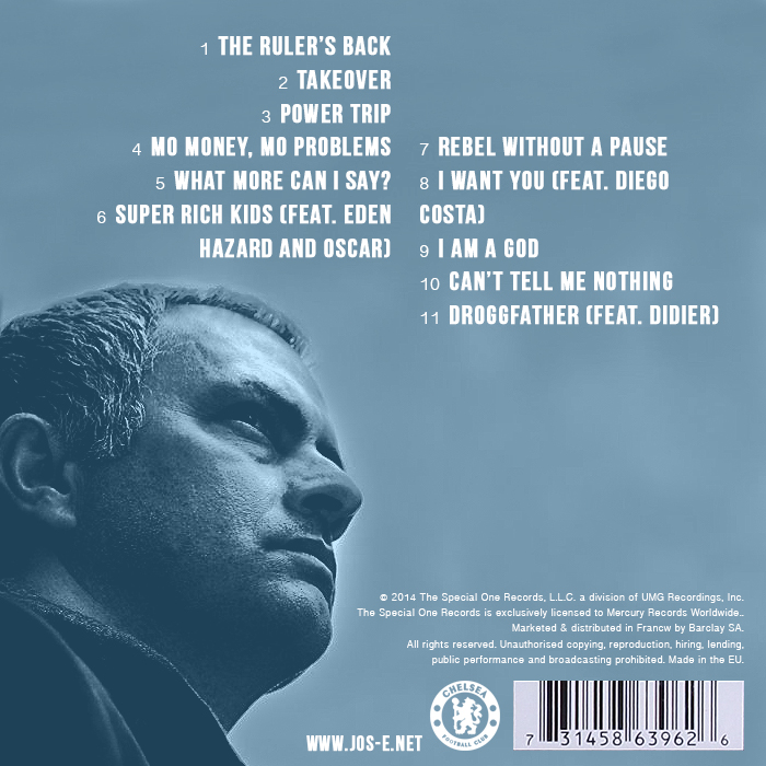 Heres what would happen if premier league managers made rap albums jose the blueprint malvernweather Gallery