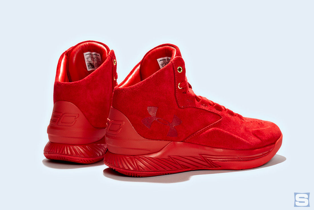 Under Armour Curry Lux Triple Red Heel