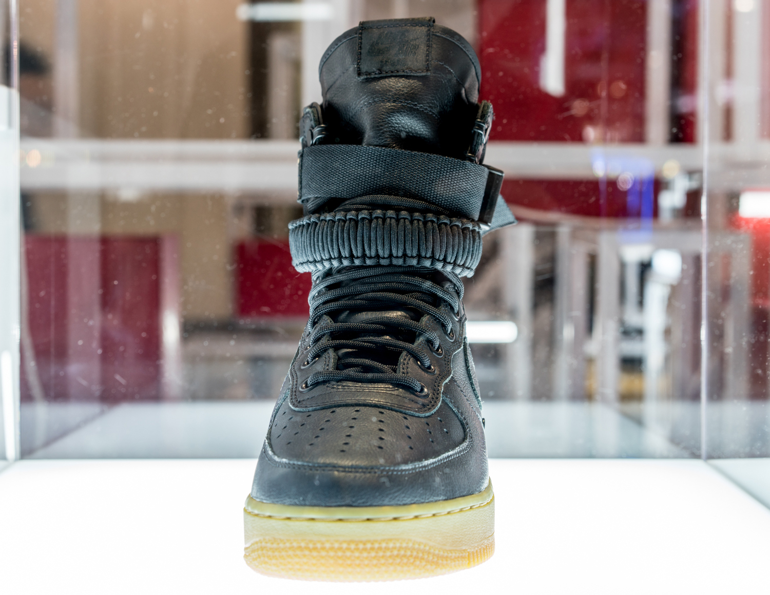 NIKE AIR FORCE 1 Mid WB Olive Green Light Gum Suede Toddler