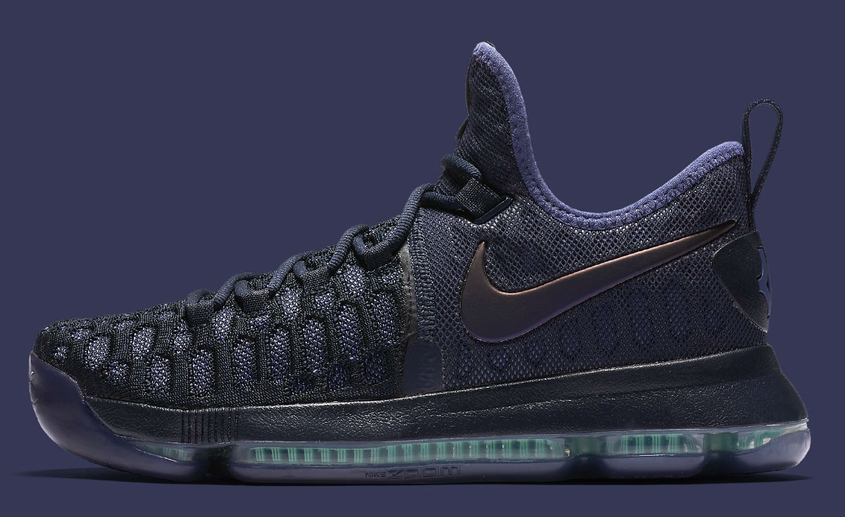 new arrival 760b3 10228 Nike KD 9 Obsidian/Dark Purple Dust-Black 843392-450 | Sole ...