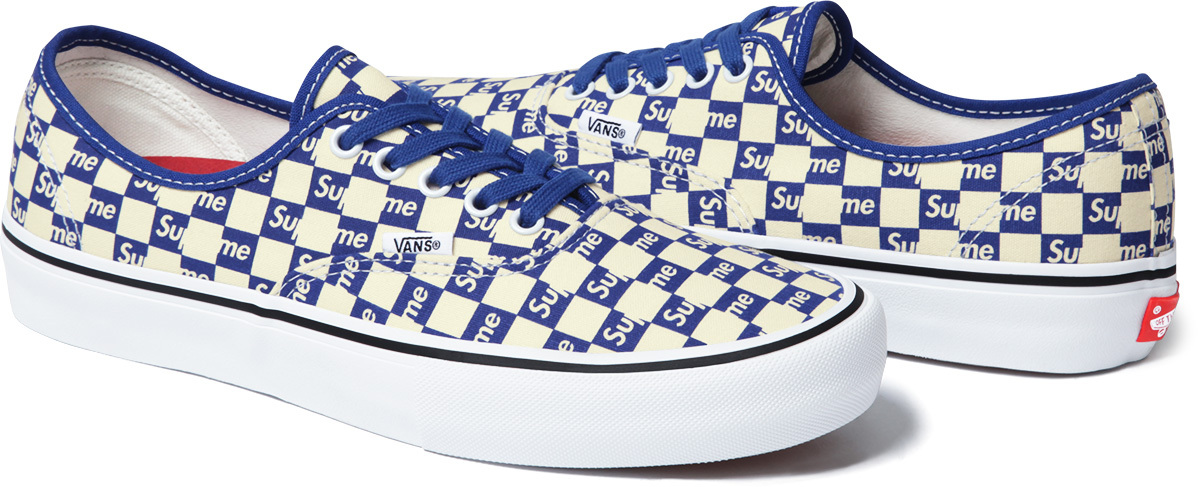 7925d79fa8a907 Image via Supreme Supreme Vans Authentic Checker Blue