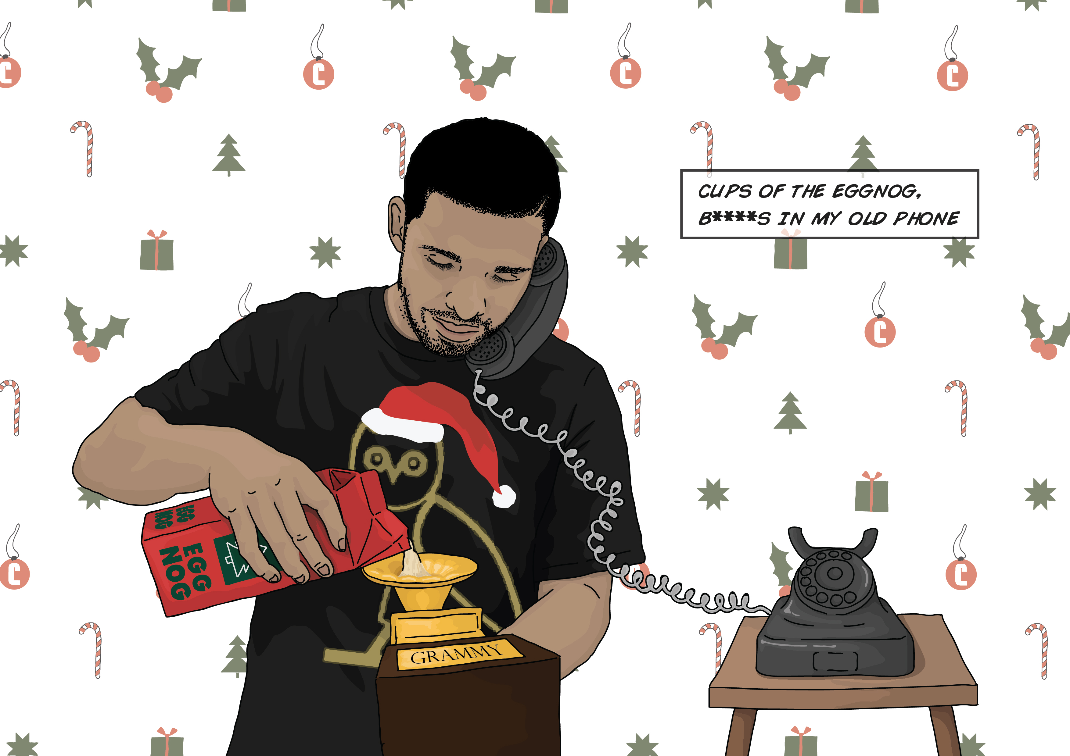 10 DrakeThemed Holiday Cards To Give To Your Friends Family and – Drake Birthday Card