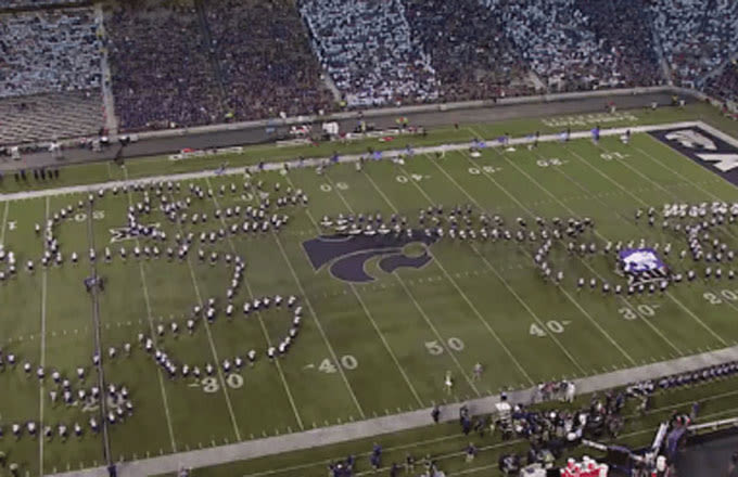 Check Out This Raunchy Formation by Kansas State's Marching Band During Yesterday's Opener