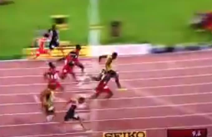 Usain Bolt Wins 100m World Championship by Slimmest of Margins