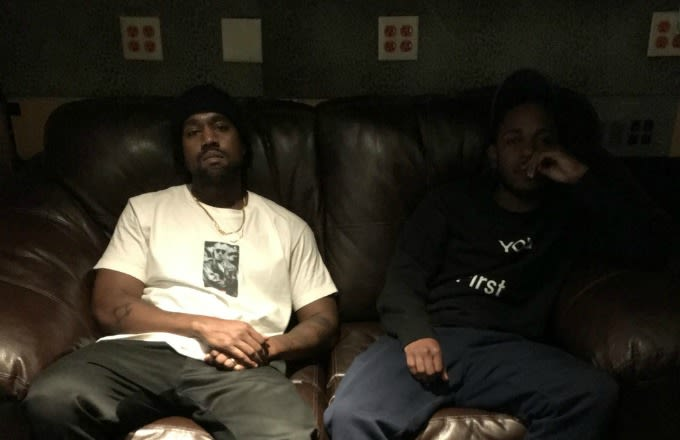 Kanye West And Kendrick Lamar Were In The Studio Last