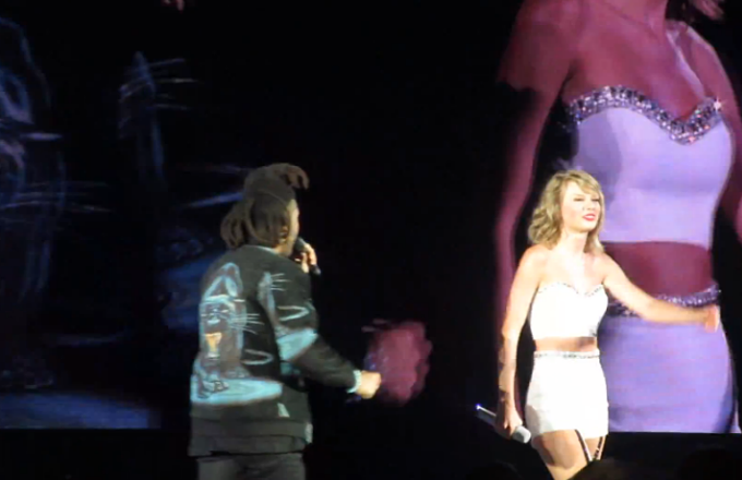 Watch Taylor Swift Bring Out The Weeknd For a Performance of