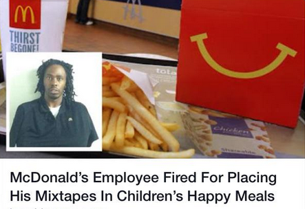 Unfortunately, That Story About a McDonald's Employee Putting Mixtapes in Happy Meals Isn't True