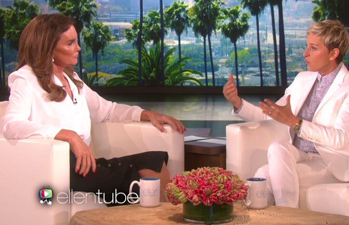 Caitlyn Jenner Tells Ellen DeGeneres She Hasn't Always Supported Same-Sex Marriage