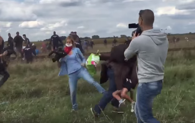 Camerawoman Fired for Tripping Syrian Refugees Running From Police