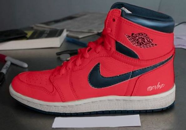 "differently 146d5 0826a Air Jordan 1 Retro High OG ""Letterman"" Release Date  04 30 16. Color  Light  Crimson Midnight Navy-University Blue-White Style    555088-606. Price   160"