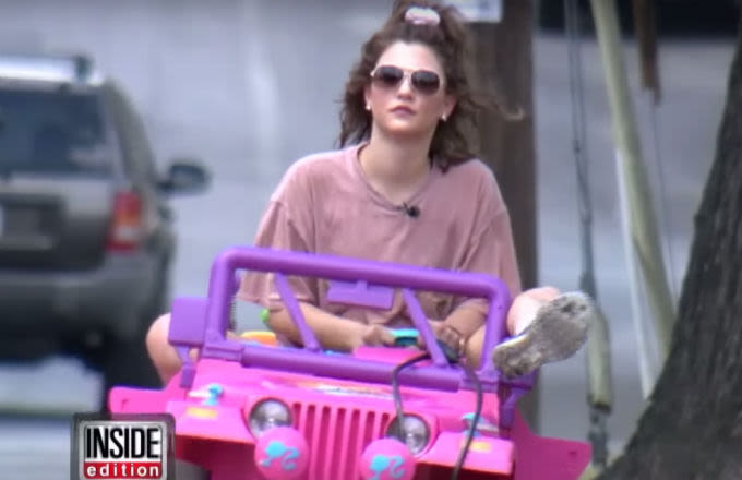 College Student Driving Barbie Jeep After Losing Her