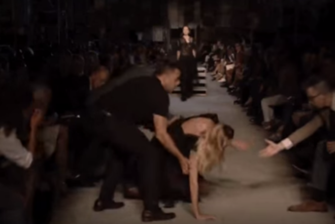 Model Candice Swanepoel Fell Hard on the Givenchy Runway