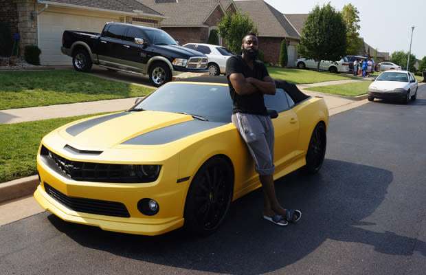 photo of James Harden  - car