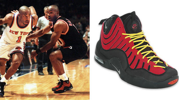 today in performance sneaker history tim hardaway holds