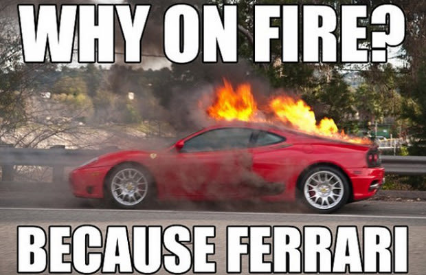 memes ferrari funny fire hilarious humor complex discovered recently ferraris sports auto meme catching