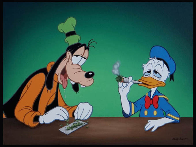 Cartoon Characters Smoking Weed Wallpaper Image via la luz de la jesus