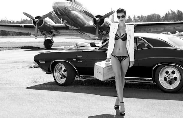 Muscle Car Black And White Wallpaper
