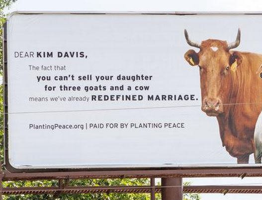 LGBT Group Burns Kim Davis With Billboard in her Hometown