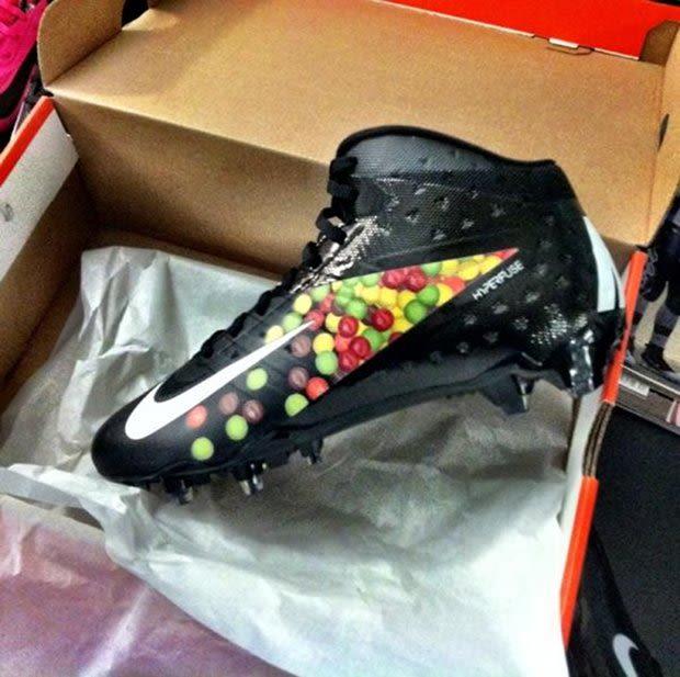 Nike Football x Skittles Marshawn Lynch Cleat | Complex