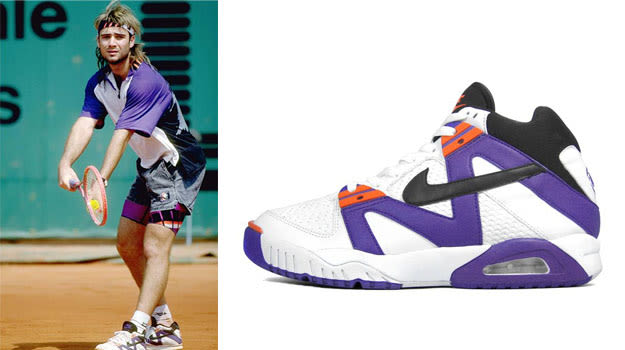 Andre Agassi in the Nike Air Tech Challenge